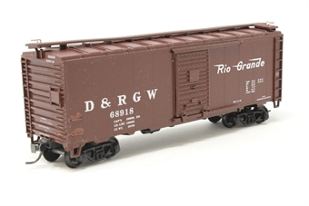KB6042-PO 40' steel boxcar #68918 'D&RGW' - Pre-owned - kit built - marks by grab handles - incorrect box