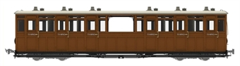 LHT-7NP-001D Lynton & Barnstaple open third No.7 in L&B red and ivory - 1901 - 1922 condition - Digital fitted