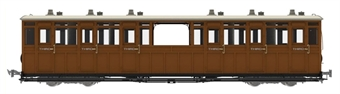 LHT-7NP-009 Lynton & Barnstaple open third No.8 in L&B red and ivory - 1897 - 1901 condition