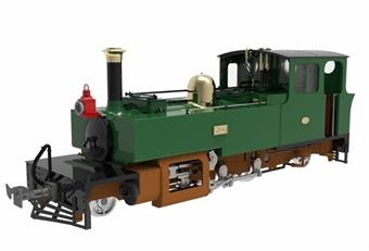"LHT-7NS-002S Lynton & Barnstaple 2-6-2T ""Yeo"" in L&B dark green - 1903 - 1913 conditon - Digital sound fitted"