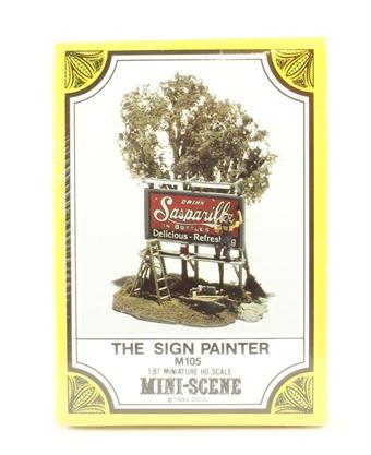 M105 The Sign Painter Mini-Scene