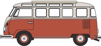 NVWS001 VW T1 Samba Bus Sealing Wax Red/Beige Grey
