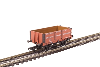 """OR76MW4008 4-plank open wagon """"Greenhill Colliery"""""""