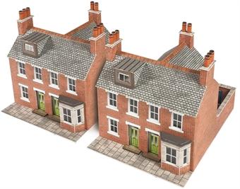 PN103 Terraced houses - red brick - card kit