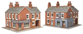 PN116 Corner shop - red brick - card kit