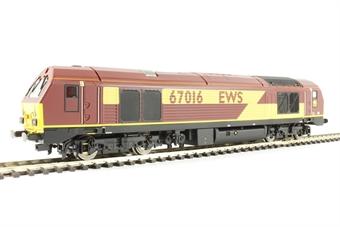 R3348 Class 67 67016 in EWS livery