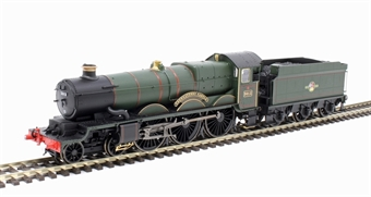 """R3619 Class 4073 'Castle' 4-6-0 5013 """"Abergavenny Castle"""" in BR green with late crest"""
