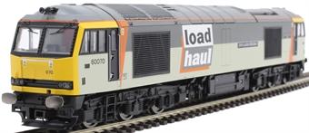 "R3657 Class 60 60070 ""John Loundon McAdam"" in LoadHaul triple grey"