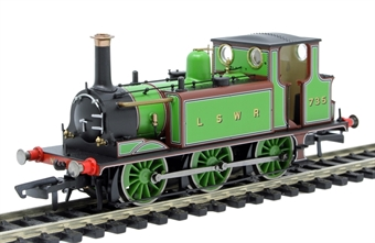 R3846 Class A1 Terrier 0-6-0T 735 in LSWR green