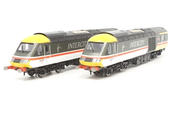 R3944-PO01 Pair of Class 43 HST Power Cars 43123 and 43065 'City of Edinburgh' in Intercity Swallow livery - buffers fitted - Pre-owned - minor marks to paintwork- very good box