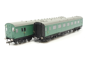 R4534D-PO14 Maunsell push-pull coach pack Set 619 in BR green - Pre-owned - Fair box