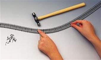 R621 Single 970mm length of flexible track